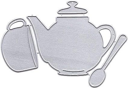 Teapot Cutting Dies Stencil DIY Scrapbooking Album Paper Embossing Card Crafts