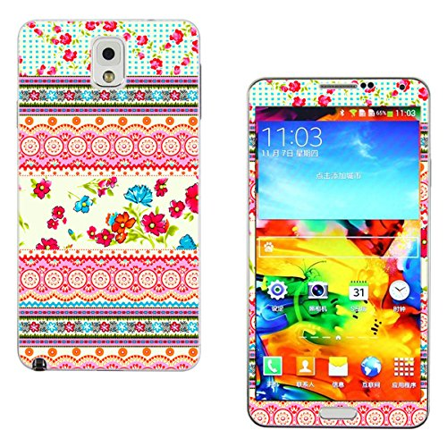 SFCCMM Vinyl Decal Protective Sticker Skin for Samsung Galaxy Note 3 III (Floral)