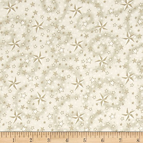 Cream Quilt Fabric (American Dreams 108 In. Wide Quilt Back Stars w/ Swirl Cream Fabric By The Yard)