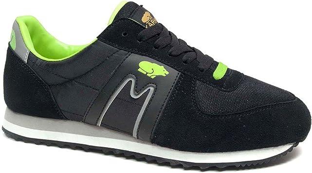 Karhu FS - Zapatillas de running para hombre, color Negro /Verde /Gris / Blanco, talla 41: Amazon.es: Deportes y aire libre