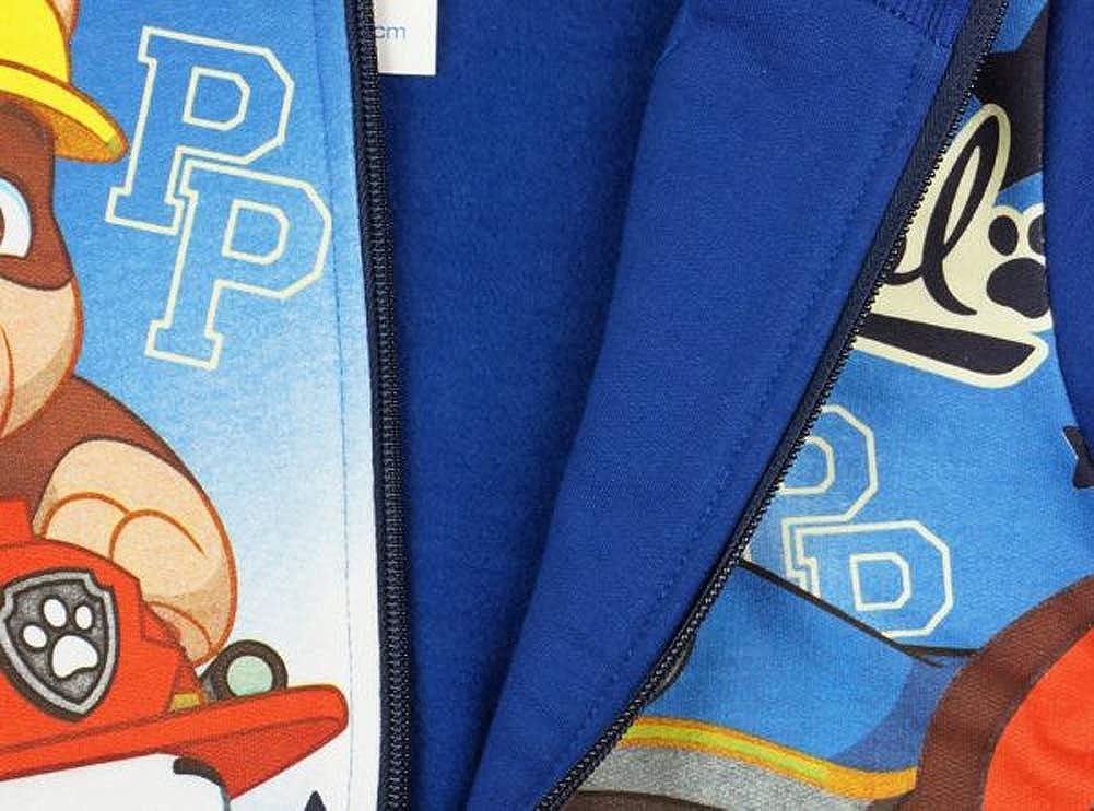 Sweat-Jacke mit Langer Hose 122 116 GR/ÖSSE 110 128 100/% Baumwolle Freizeit-Anzug Paw Petrol Kleines Kleid Jungen Sport-Anzug Trainingsanzug Jogginganzug