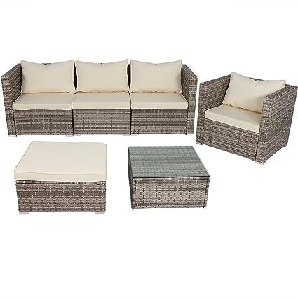 Superbe Sunnydaze 6 Piece Sofa Boa Vista Wicker Rattan Outdoor Patio Furniture Set  With Beige Cushions