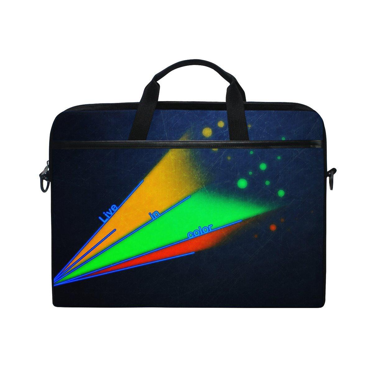 outlet Figurines Colorful Lines Laptop Shoulder Messenger Bag Case Sleeve For 14 Inch To 15.6 Inch With Adjustable Notebook Shoulder Strap