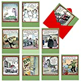 10 Hilarious 'Bizarro by Piraro' Merry Christmas Cards 4.63 x 6.75 inch - Assorted and Boxed Cartoon Holiday Cards with Envelopes - Funny Bulk Xmas Greeting Card Stationery for Family, Friends A1256