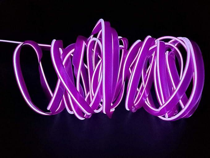 USB Neon Light El Wire Alambre electroluminiscente que brilla intensamente para el partido de Navidad Pub Interior Decoraci/ón al aire libre con 5 mm borde de costura 1M Naranja 3FT