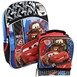 Disney Cars 16 Inch Backpack And Lunch Box Set
