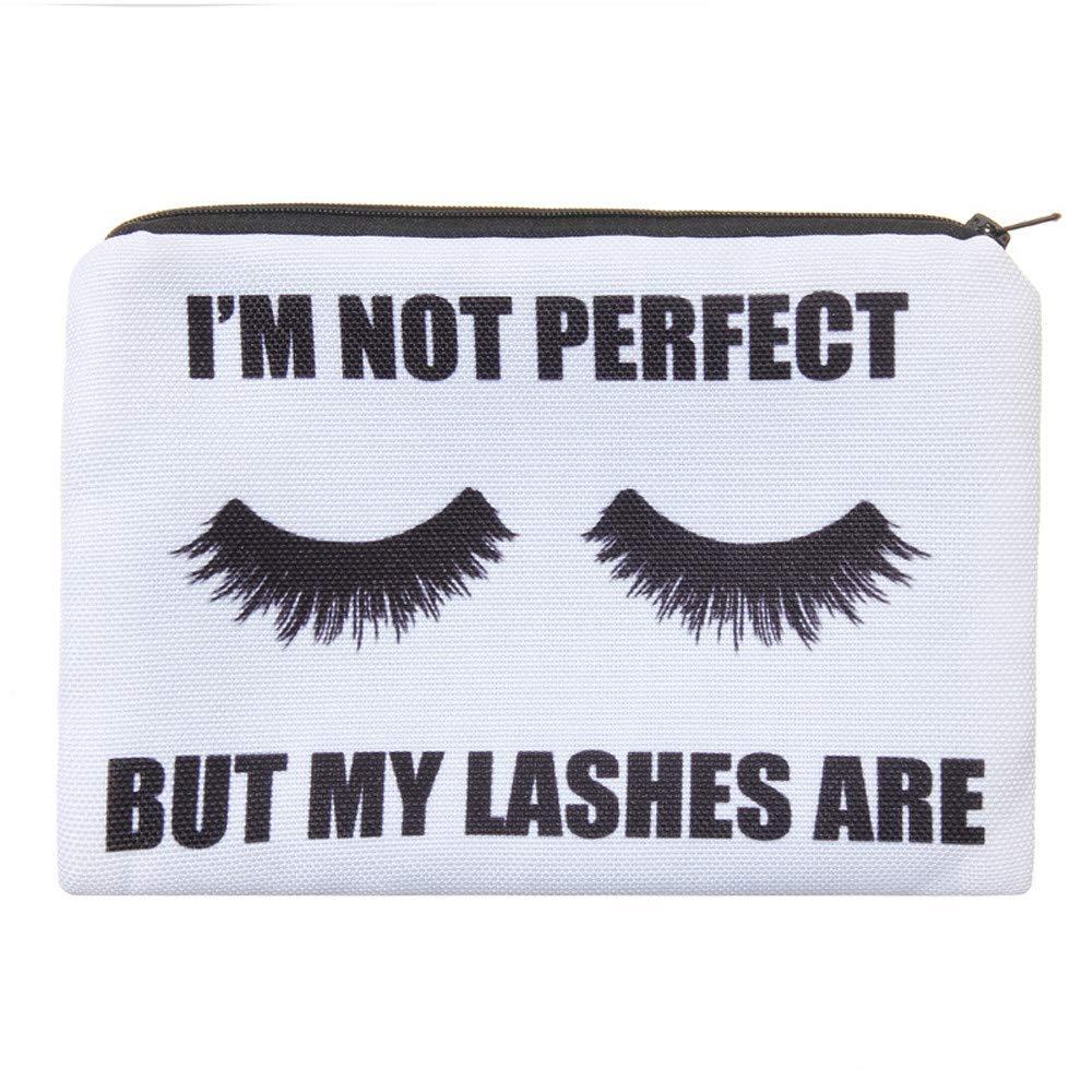 Tpingfe Women Letters Printing Makeup Cosmetic Bag Toiletry Storage Travel Wash Handbag (E)