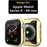 Case U Soft Flexible TPU Screen Protector Protective Case for Apple Watch 44mm - Gold