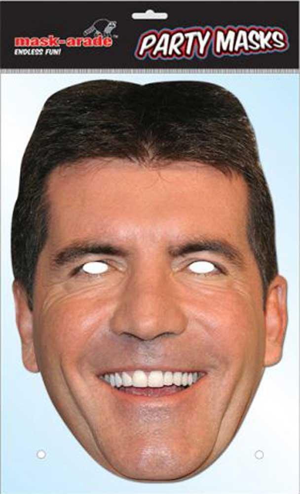 Simon Cowell X Factor Promi Maske Pappmaske - Grösse ca. 30x21 cm empireposter