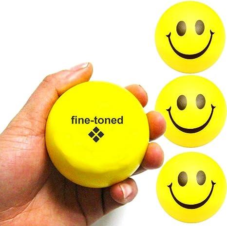 Fine-toned® - Juego de 4 pelotas antiestrés + tabla de ...