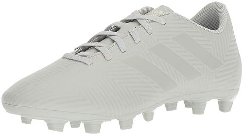7d0b641c3 Adidas Men's Nemeziz 18.4 Firm Ground Soccer Shoe, ash Silver/White Tint,  6.5