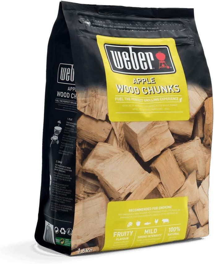 Weber 17616 - Trozos de leña para ahumar - manzano