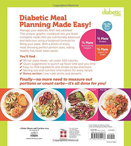 Diabetic Living Diabetes Meals By The Plate 90 Low Carb To Mix Match Editors 9780544302136 Amazon Books