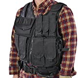 Shootmy Lightweight Cs Tactical Vest with Adjustable Pockets, Velcro Closure, Black