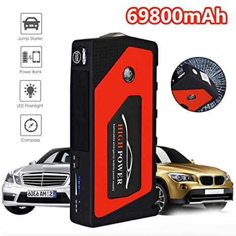 Coche Jump Starter Emergency 69800mAh 12V Dispositivo De ...