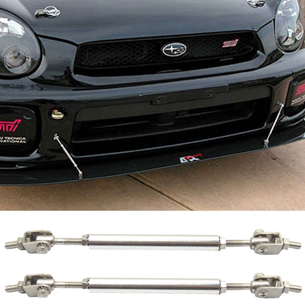 Strut Rods Fits Any Car | Adjustable 5.5-8 Inch Bumper Lip Spoiler Diffuser Rod Splitter Support Protector by IKON MOTORSPORTS universal Lip Stabalizers Brace wind STRUT TIE BAR
