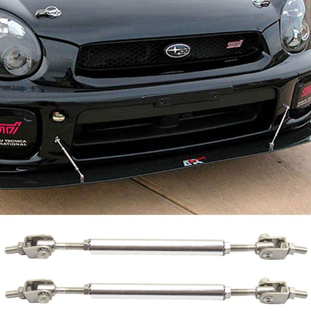 Strut Rods Fits Any Car | Adjustable 5.5-8 Inch Bumper Lip Spoiler Diffuser Rod Splitter Support Protector by IKON MOTORSPORTS universal Lip Stabalizers Brace wind STRUT TIE BAR