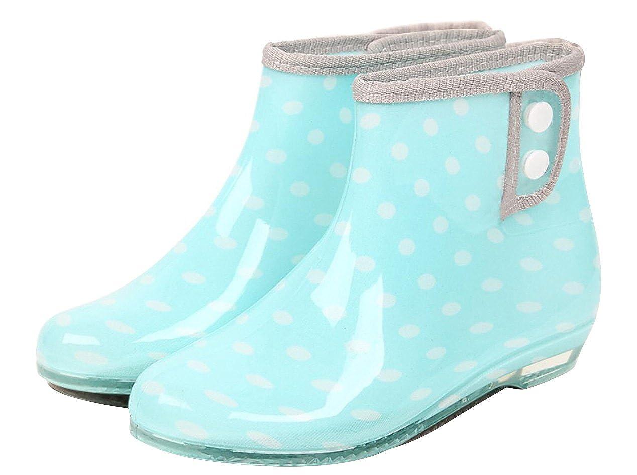 Cute Waterproof Rain Boots Antiskid Work Shoes ACE SHOCK Rain Footwear Women High Top