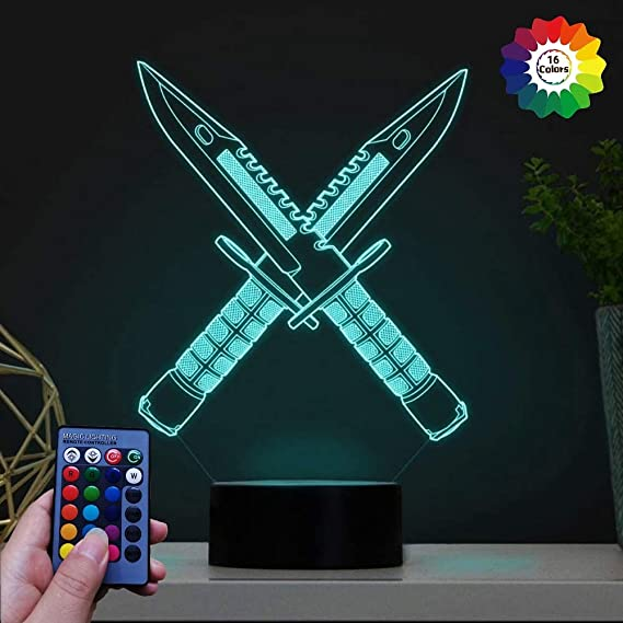 HPBN8 Ltd Creativo 3D Caballo Luz Nocturna Ilusi/ón Optica L/ámpara 7//16 Colores Control Remoto USB Power Juguetes Decoraci/ón Navidad Cumplea/ños Regalo