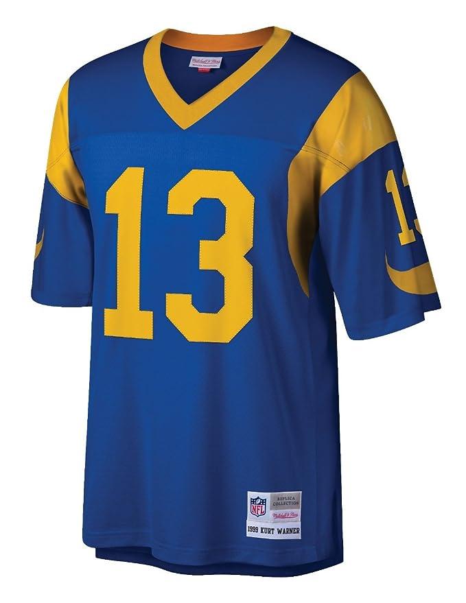 5aa4cbb03 Amazon.com   Mitchell   Ness Kurt Warner St. Louis Rams 1999 Home Legacy Jersey  Men s   Sports   Outdoors