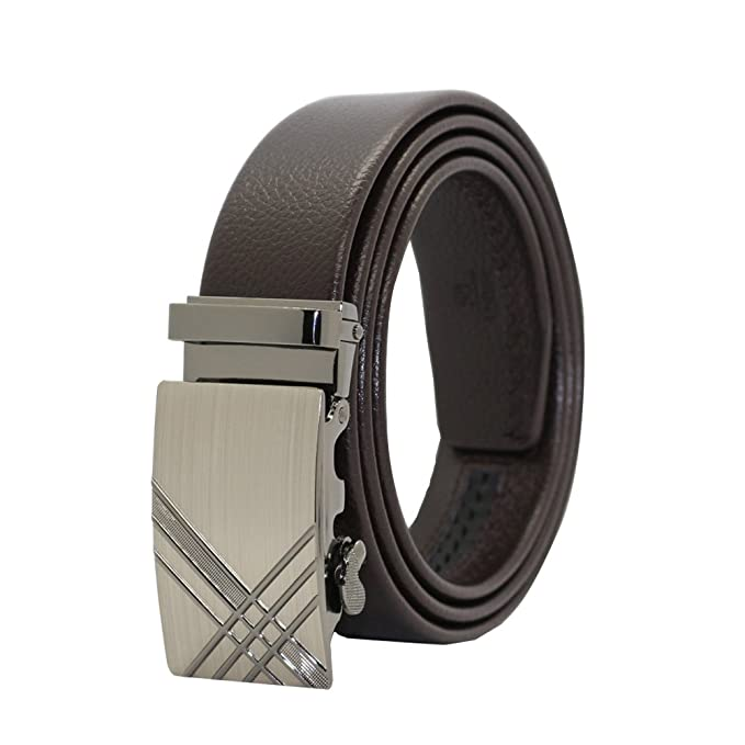 Amazon.com: Para hombre cinturón de hebilla automática ...
