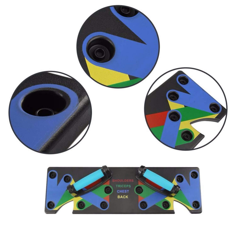 ieenay Das Ultra Push 9-in-1-System Push-Up-Bracket Board Portable f/ür Heimfitness-Training