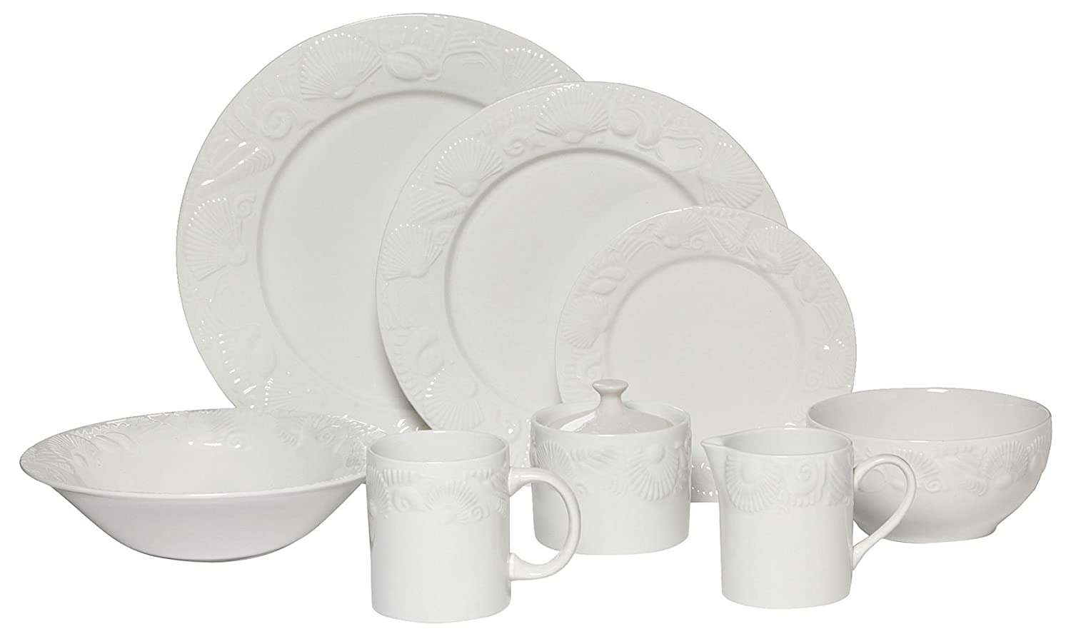 Amazon.com | Pfaltzgraff Lido Beach 37-pc. Dinnerware Set One Size Dinnerware Sets  sc 1 st  Amazon.com & Amazon.com | Pfaltzgraff Lido Beach 37-pc. Dinnerware Set One Size ...