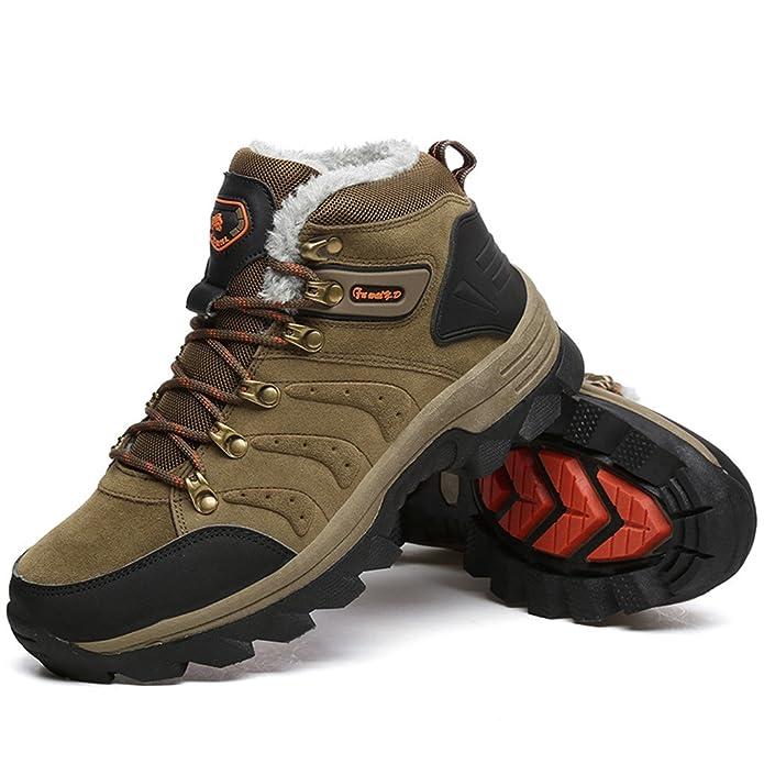 ZanYeing Herren Winterschuhe Warm Gefütterte Outdoor Trekking Sneakers Hohe Schuhe Stoßdämpfung Schneestiefel Wanderschuhe Sports iKSf9i2ZFq
