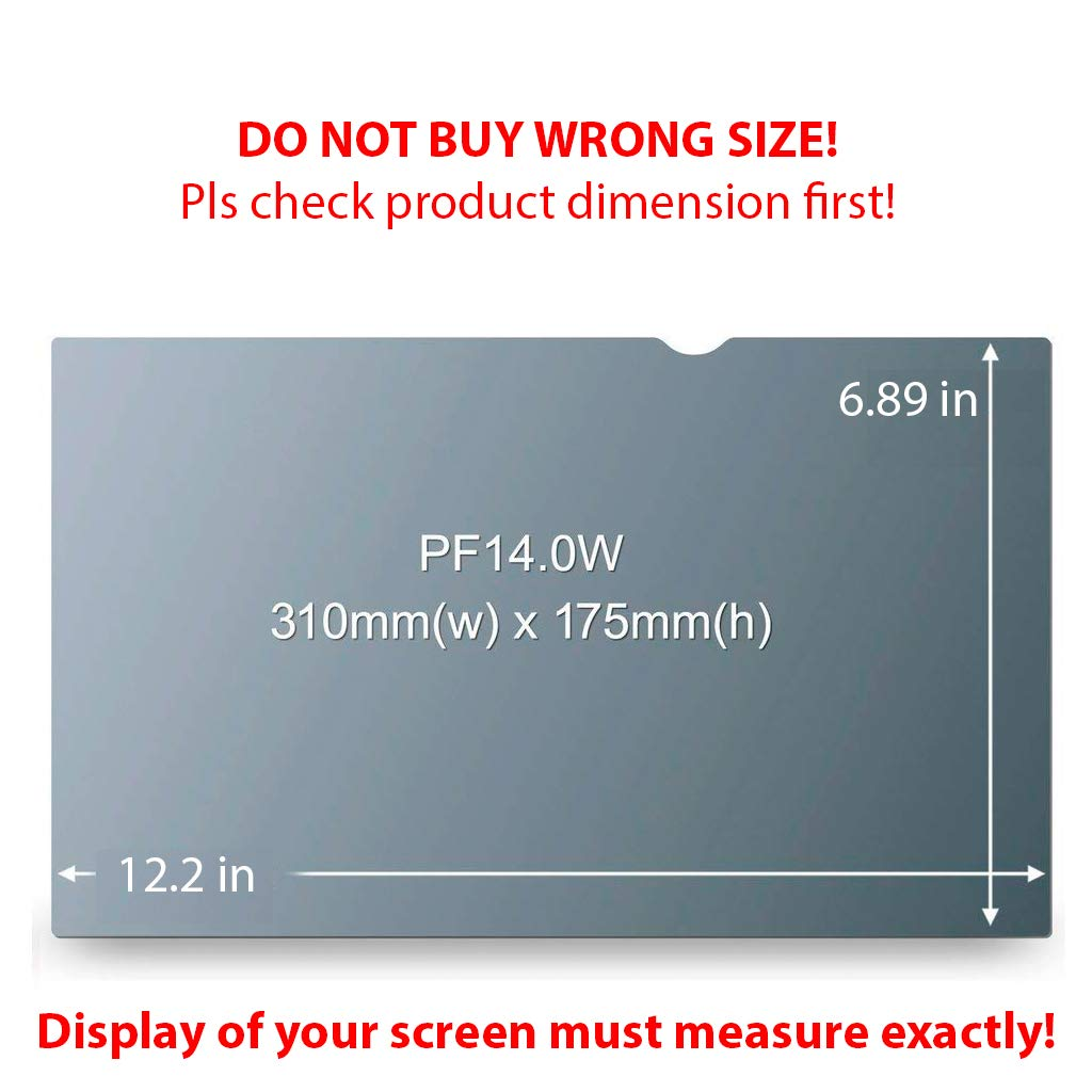 Homy Laptop Privacy Filter Compatible with 14.0 Inch Widescreen (12.2 x 6.9 in) - Anti-spy Screen Protector for Widescreen Laptops Matte Surface Storage Folder & Anti Spy Web Camera Cover. by Homy international (Image #2)