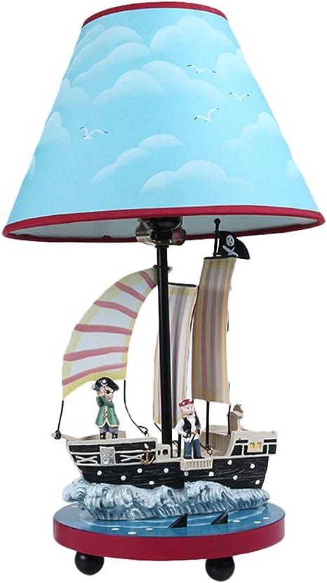 Lampada Da Tavolo Moderna Lampada Da Tavolino Bambini E27 Cartoon Pirata Nave Lampada Da Scrivania Creativa Camera Da Letto Ragazzo Decorazione Lampada Notte Luce Regalo Di Compleanno Cielo Blu Amazon It Illuminazione
