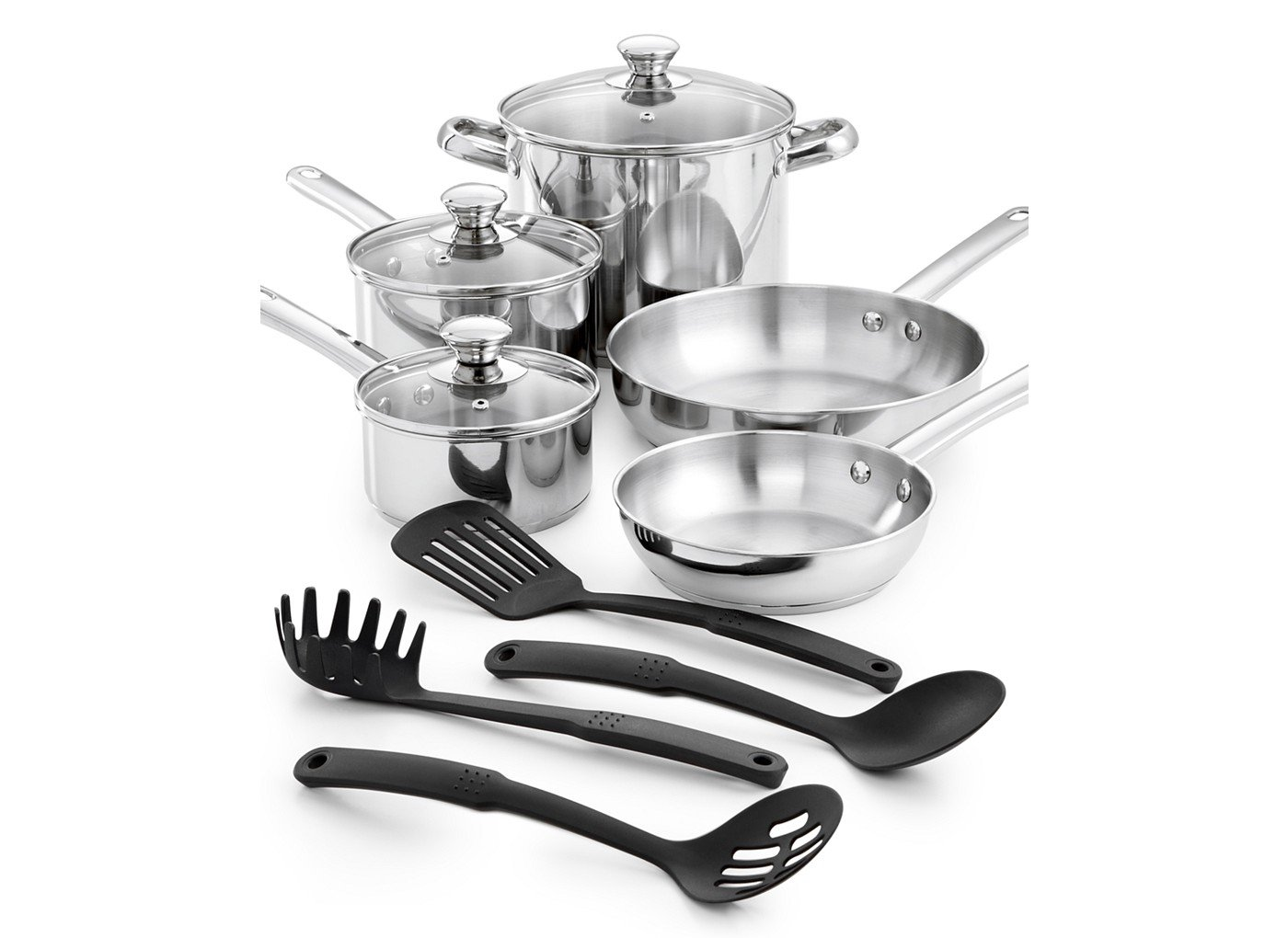 Amazon.com: Cooks Stainless Steel 12-pc. Cookware Set: Kitchen & Dining