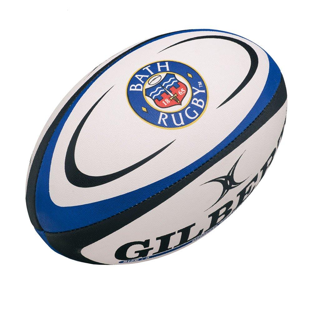 Baño Official Réplica Balón de Rugby Color Blanco/Azul Gilbert