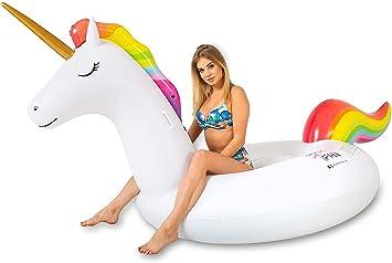 SummerFan Flatador Unicornio - Flotadores Gigantes, Hinchables para Piscina, Colchoneta Hinchable: Amazon.es: Juguetes y juegos