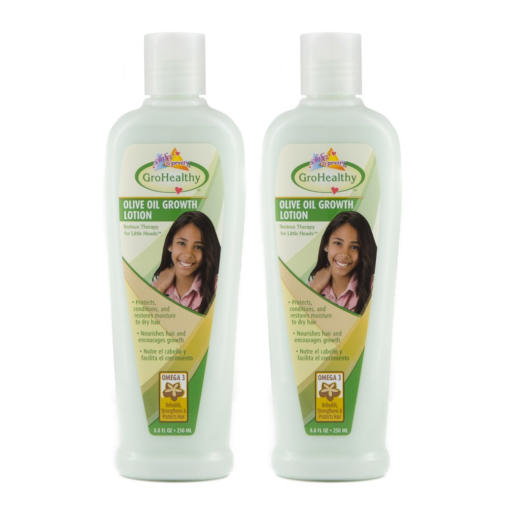 Sofn'Free n'Pretty GroHealthy Olive Oil Growth Lotion 8.8 oz Pack of 2 by Sofn'Free n'Pretty