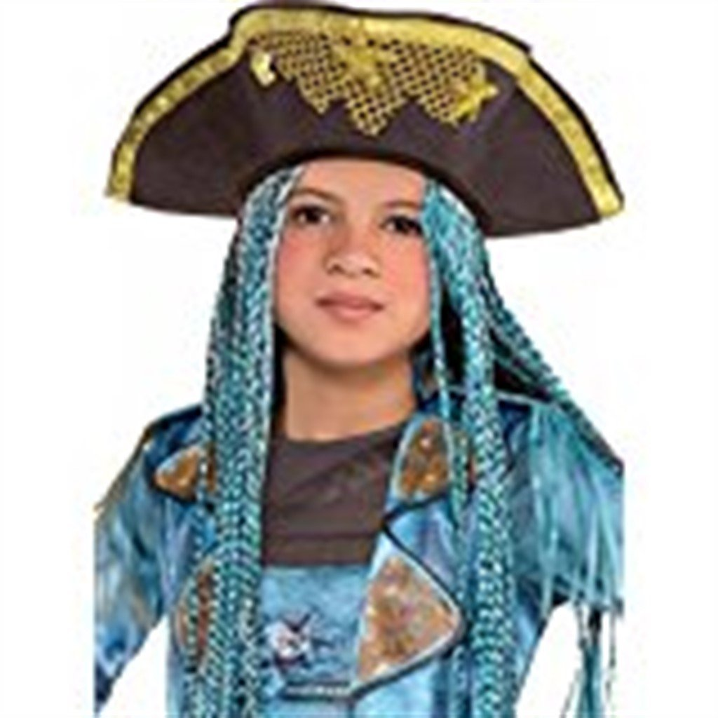 Uma Hat with Braids Descendants Halloween Costume Accessories for Kids, One Size, by Amscan