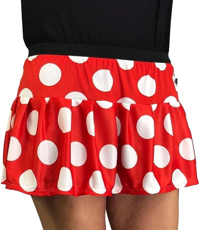Falda para Disfraz de Minnie Mouse con Lunares Rojos y Blancos ...