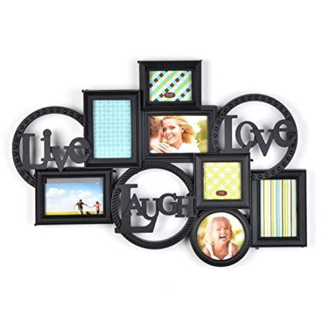 Amazoncom Live Laugh Love Photo Collage Picture Frame