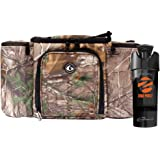 6 Pack Fitness Bag Limited Edition Realtree Innovator 300 Camo (3 Meal) W/ Zogosportz Black/Neon Orange Cyclone Shaker