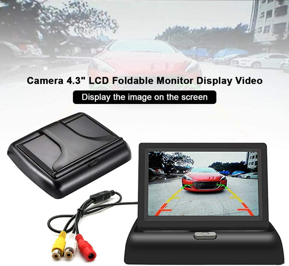 Funsquare Folding 4.3 Inch 12//24V Car Wireless Reversing Camera Reversing Display