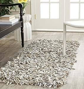 Cuero safavieh shag colecci n lsg511 a tejido a mano - Amazon alfombras pasillo ...