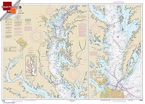Paradise Cay Publications NOAA Chart 12280: Chesapeake Bay 21.00 x 28.98 (SMALL FORMAT WATERPROOF)