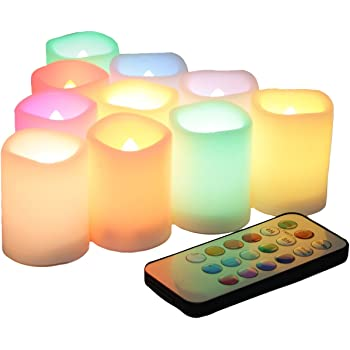 Amazon Com Candle Choice Set Of 10 Color Changing Multi
