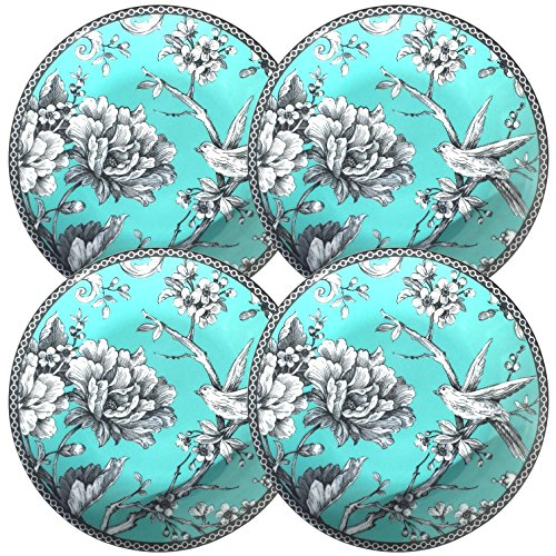 222 Fifth Adelaide Turquoise Round Dessert/Appetizer Plates