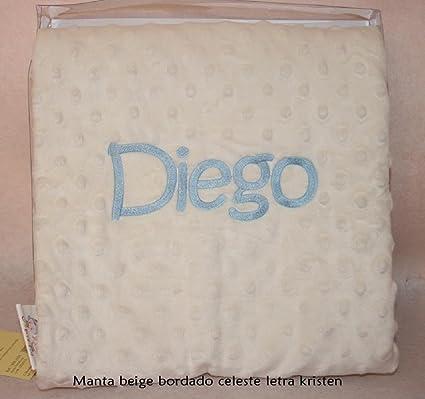 PRIMERAEDAD/Manta bebé para coche y minicuna con dos capas y topitos tacto terciopelo COLOR