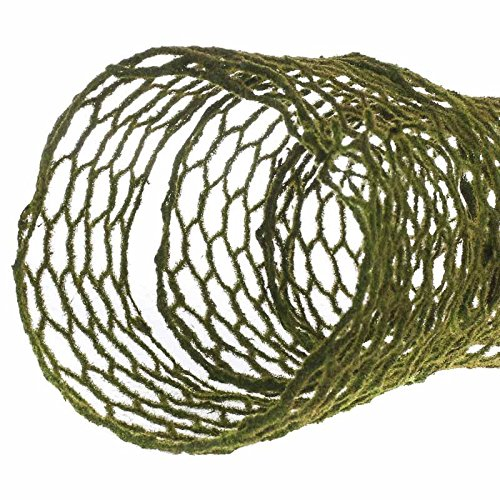 6 Feet of Unique Moss Covered Chicken Wire Ribbon for Crafting, Creating and Designing