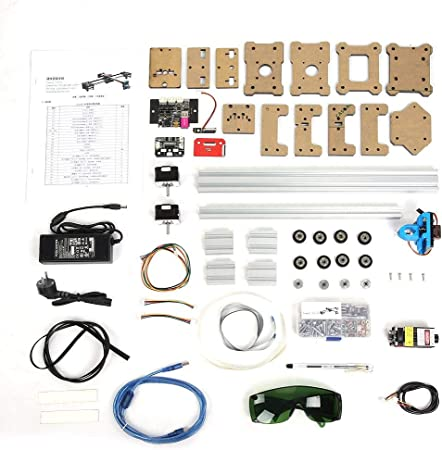FTVOGUE DIY XY Plotter Drawbot Pen Machine Robot con 2.5W Laser 100-240VAC 50/60hz DC 12V 5A(EU Plug): Amazon.es: Hogar
