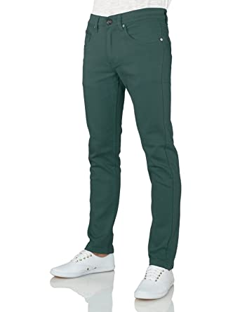 IDARBI Men's Skinny Cotton Twill Pants / Jeans (28 to 38 Waist ...