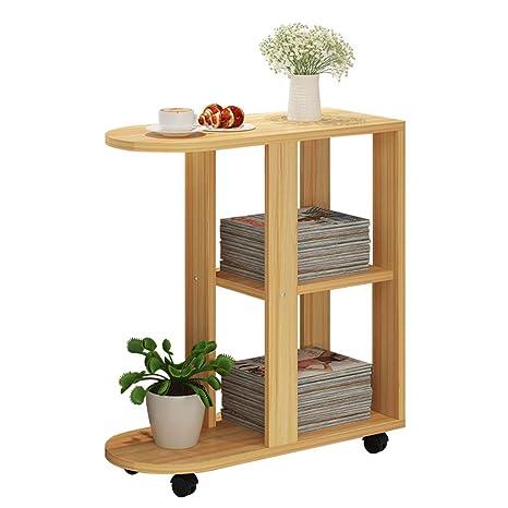 Amazon.com: Mesa de café con ruedas salón dormitorio pequeña ...