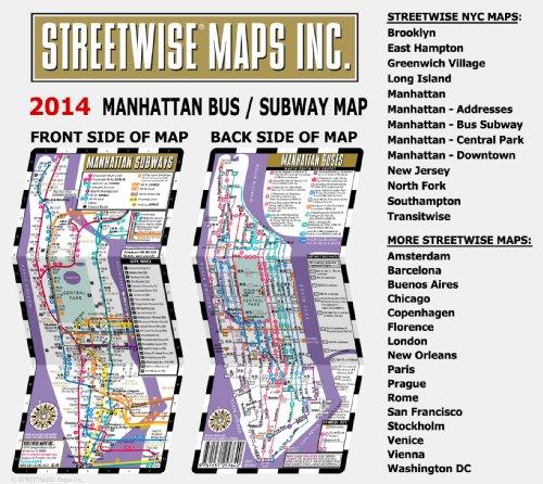 streetwise manhattan bus subway map laminated metro map of Streetwise Manhattan Bus Subway Map – Laminated Subway Map of New York City 500x446