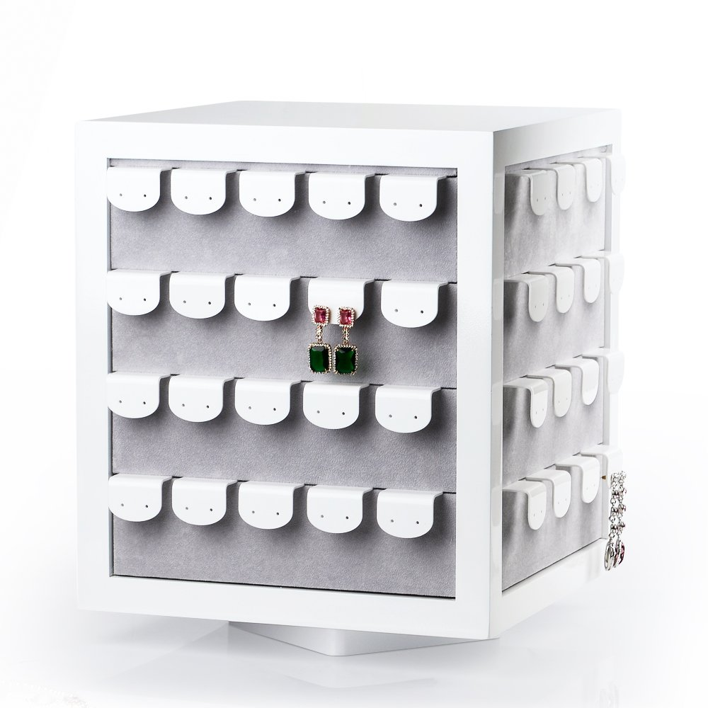 Oirlv Rotate 80 Bits Earrings Display Stand Jewelry Showcase Organizer Holder For Handing Earring Studs